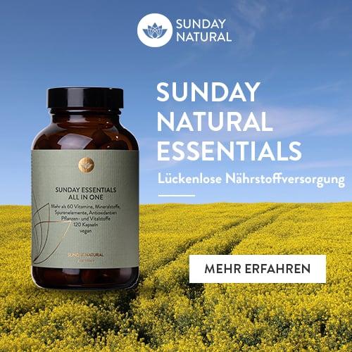 Sunday Natural Nahrungsergänzungsmittel Supplemente für Veganerinnen