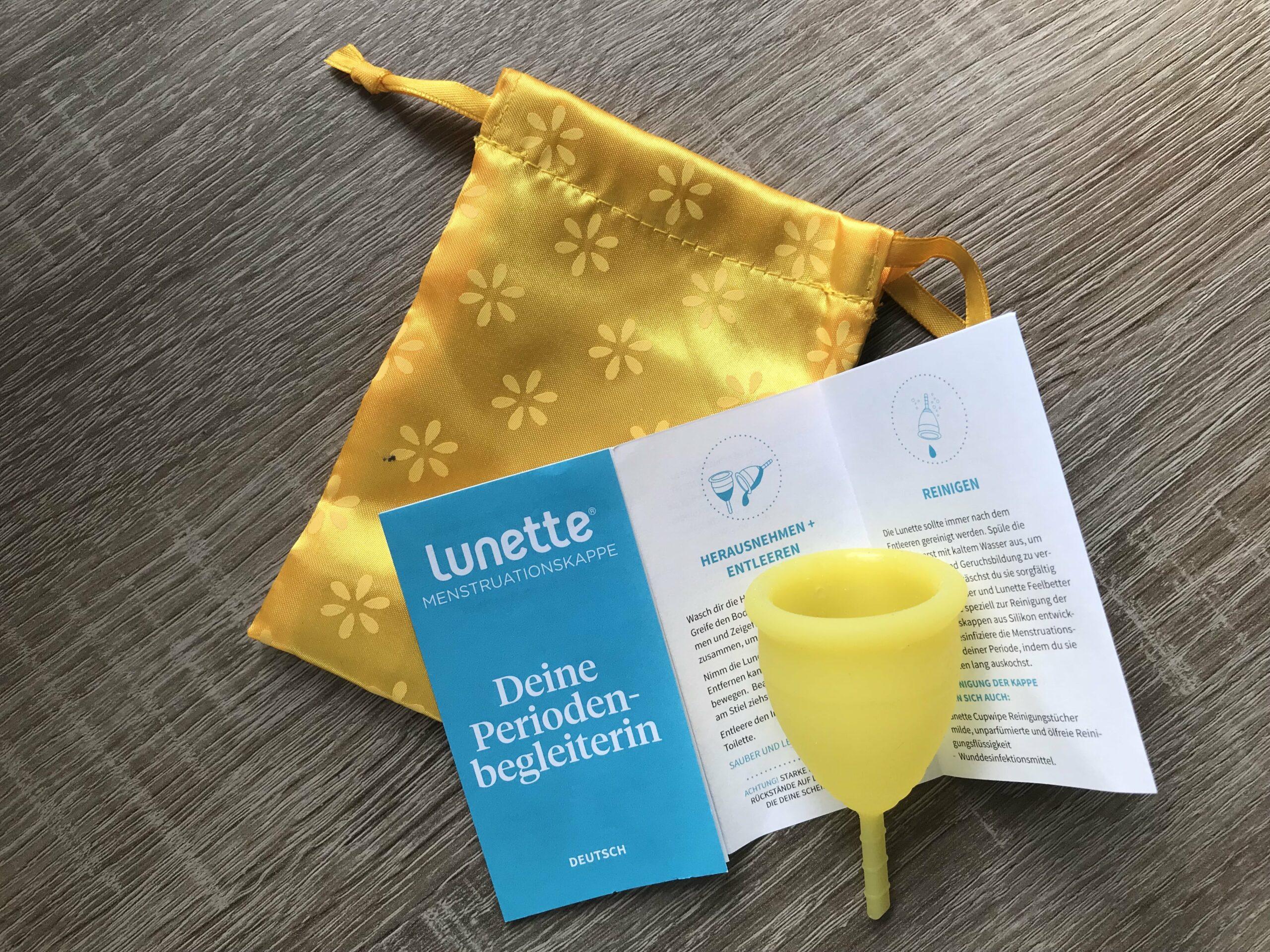 Nachhaltige Monatshygiene Lunette Menstruationstasse